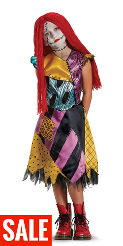 Deluxe Child Sally Costume Nightmare Before Xmas