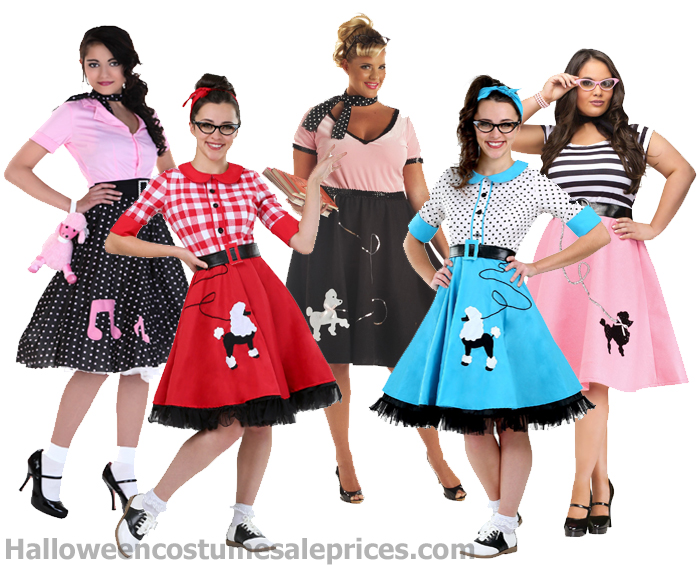 Plus Size Poodle Skirts from the Fifties